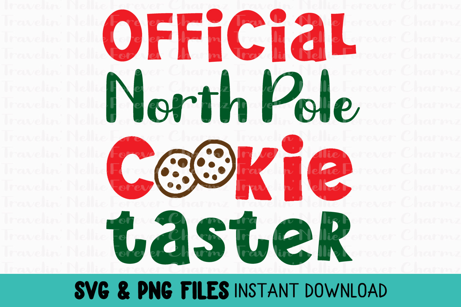 Official North Pole Cookie Taster SVG Winter Christmas Kids example image 1