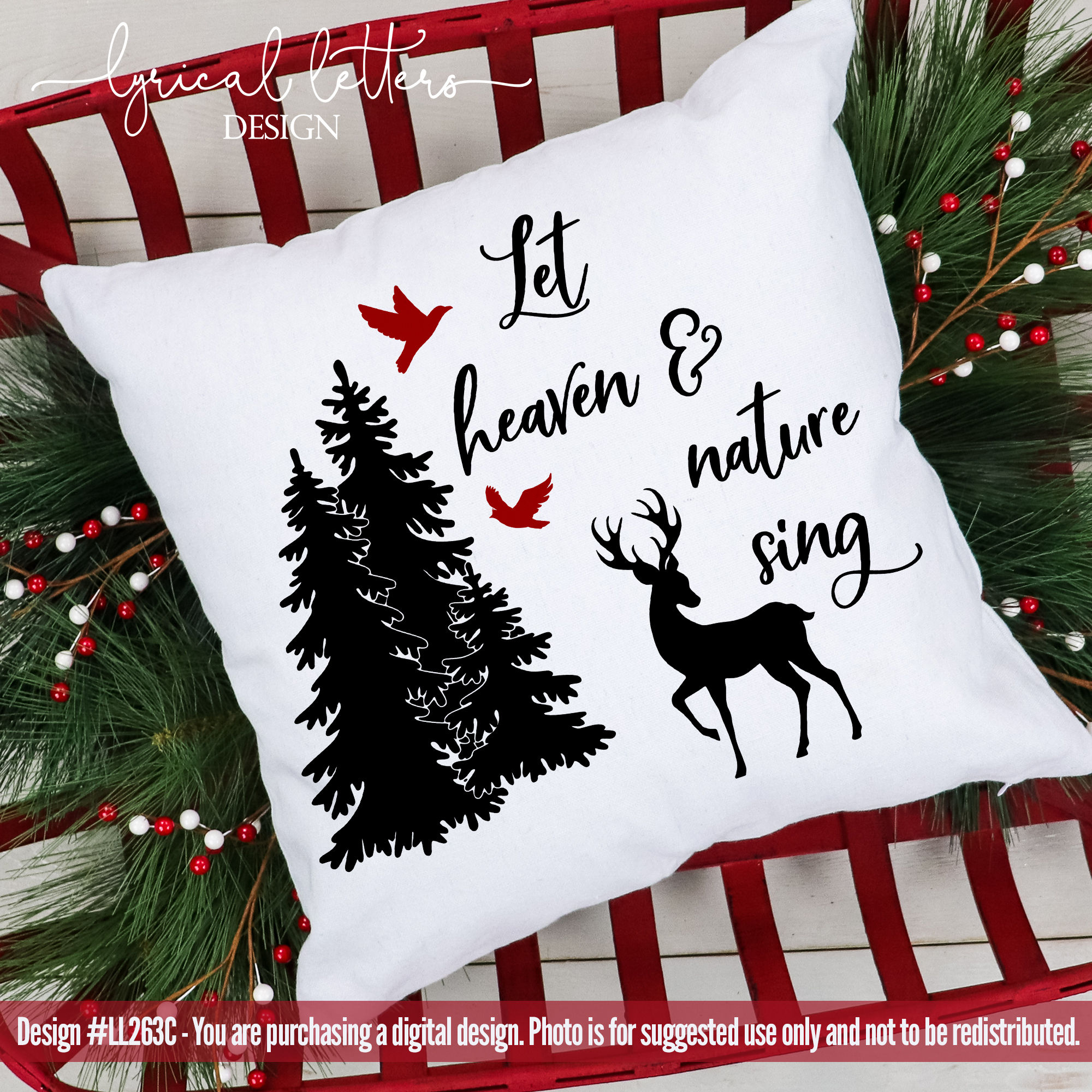 Cardinals & Christmas Bundle of 22 SVG DXF FCM Cut File example image 14