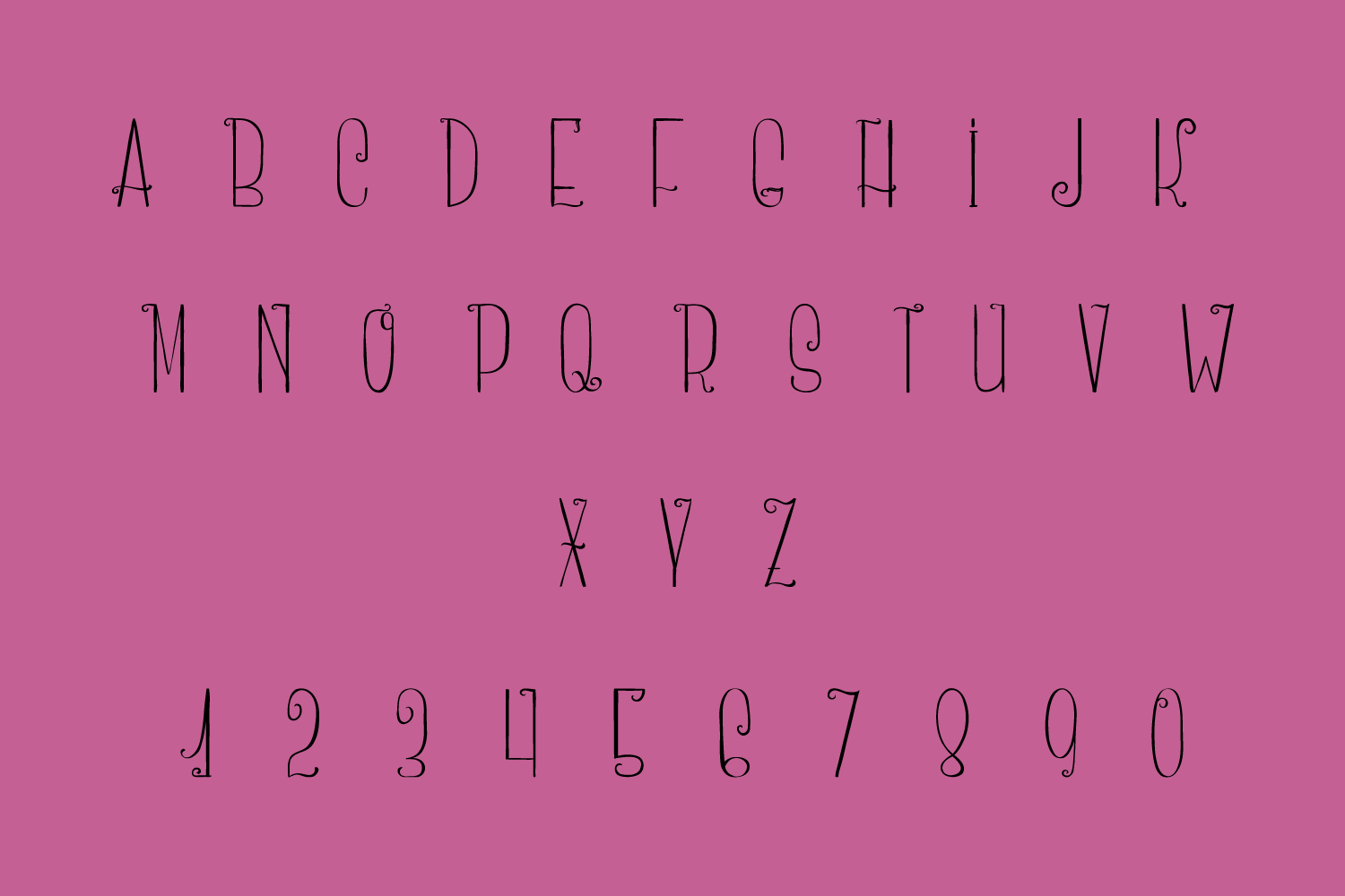 Curlee - A Thin and Curly Font example image 5