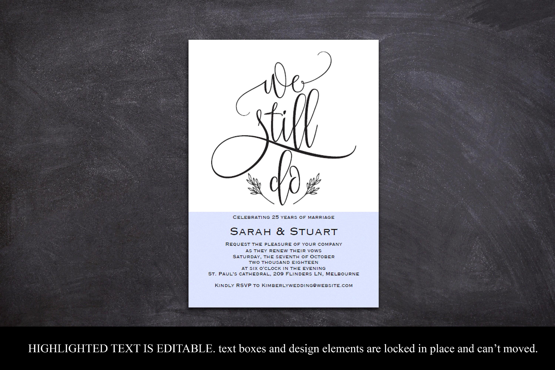 We still do invitation, Wedding anniversary invitation example image 4