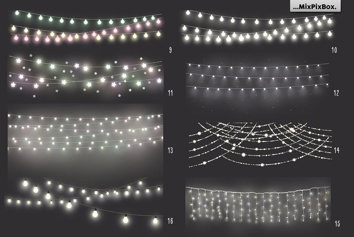 Festive String Lights Overlays example image 5