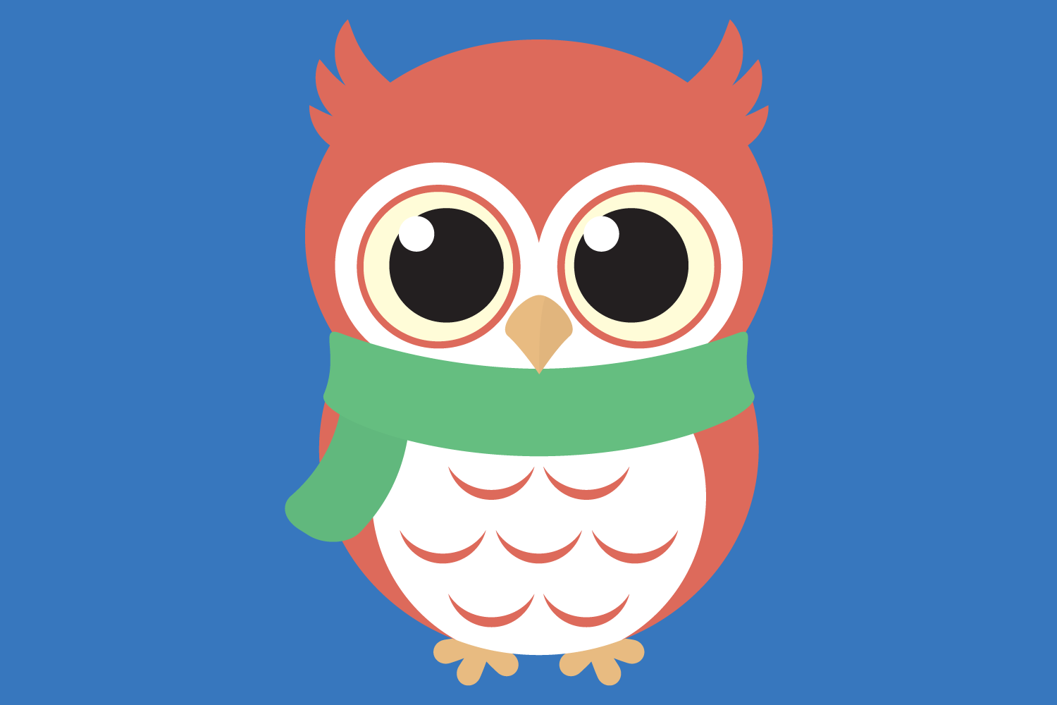 Cute Winter Owl Bundle SVG Cut Files, Woodland Baby Owls example image 2
