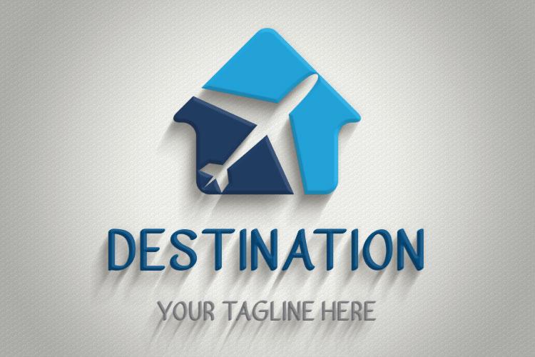 Travel Hut Shape Logo example image 4