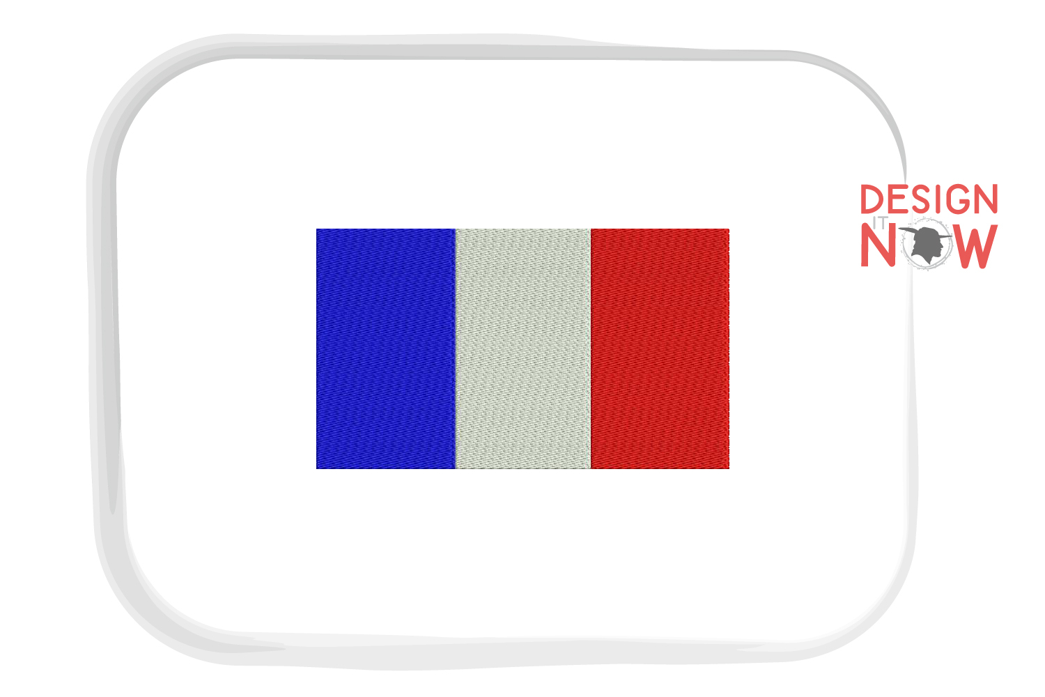 Flag Of France Embroidery Design, Map Embroidery example image 1