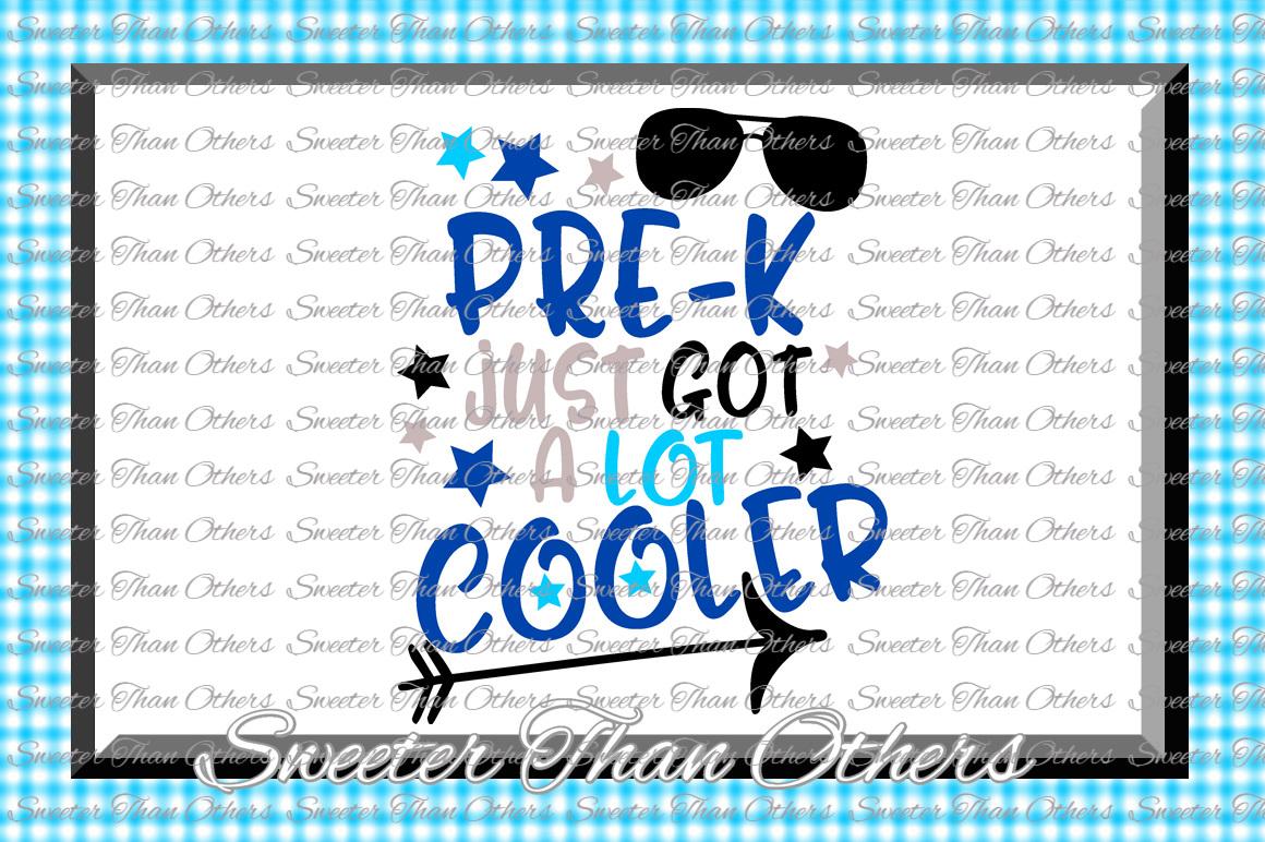 Pre K Cooler SVG Pre Kindergarten cut file Last Day of Schoo example image 1