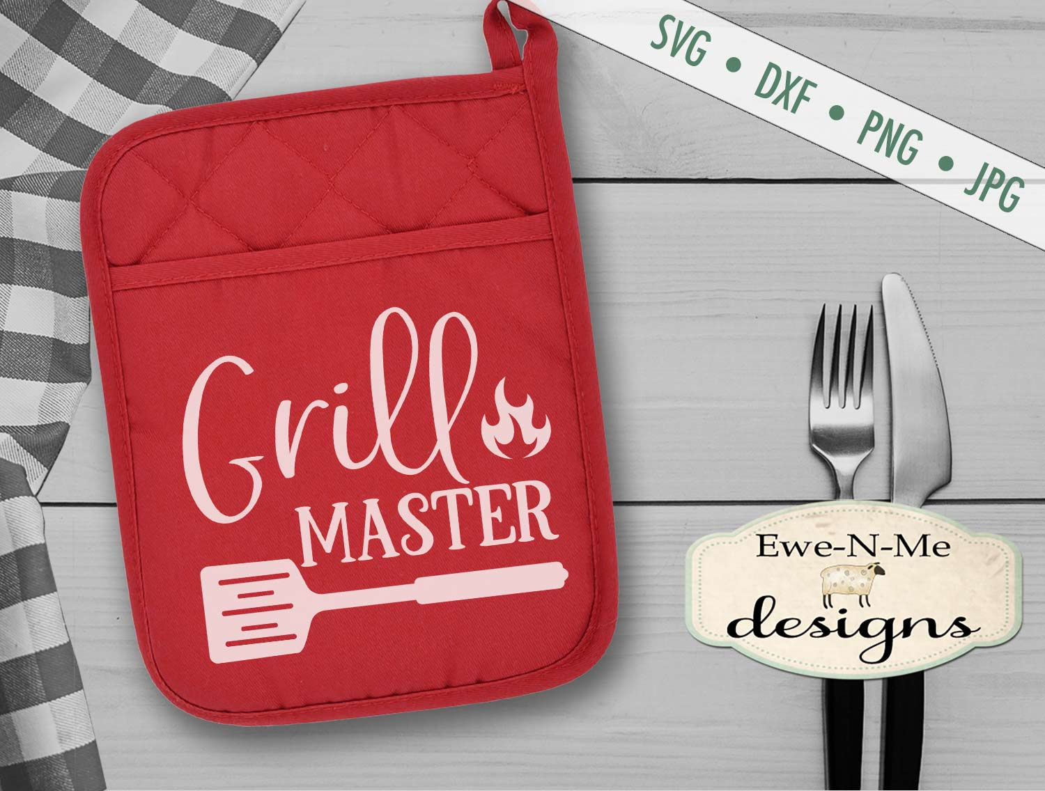 Grilling BBQ Themed Pot Holder Bundle - Fathers Day SVG example image 3