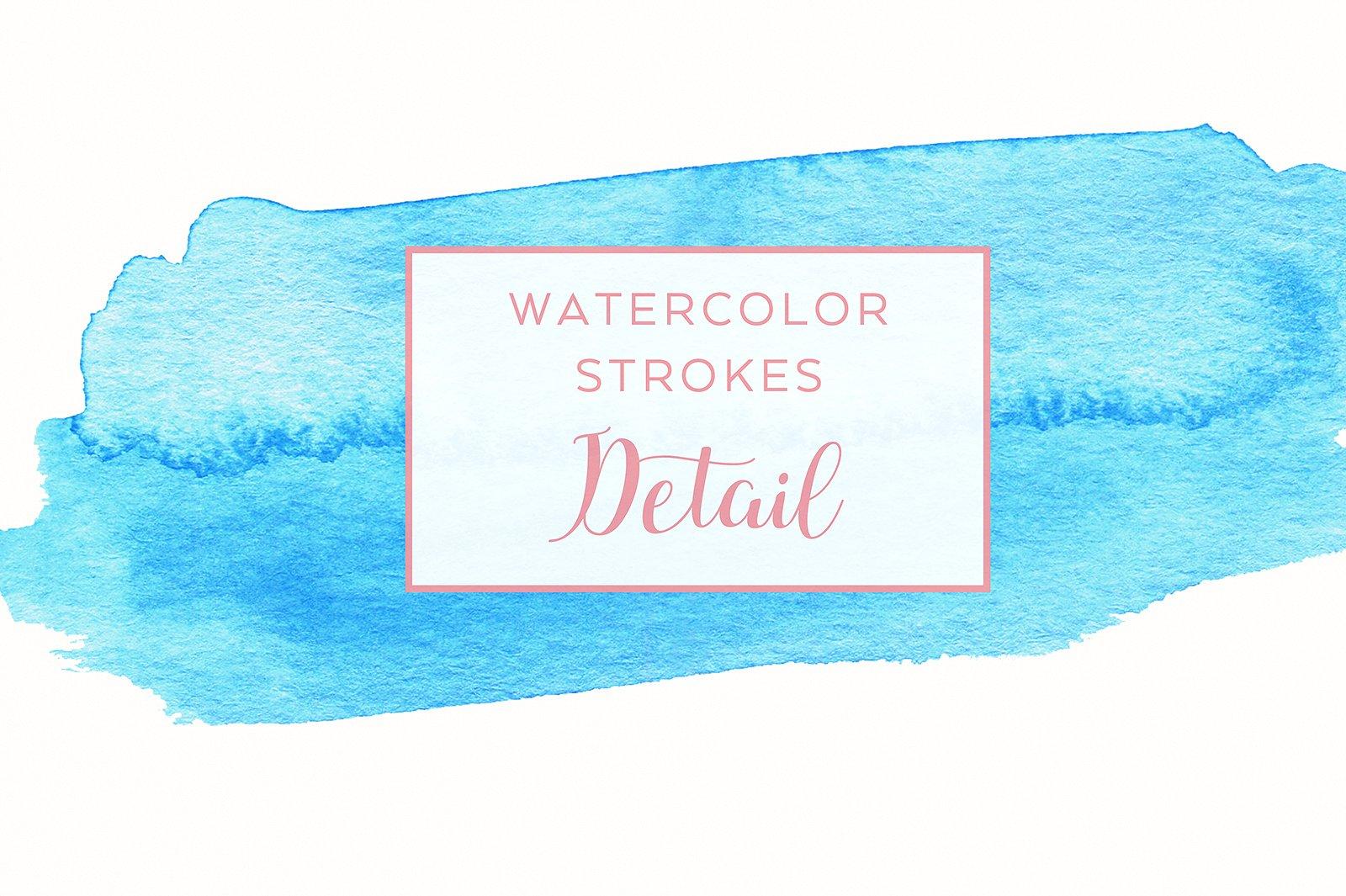 48 Pastel Watercolor Strokes example image 3