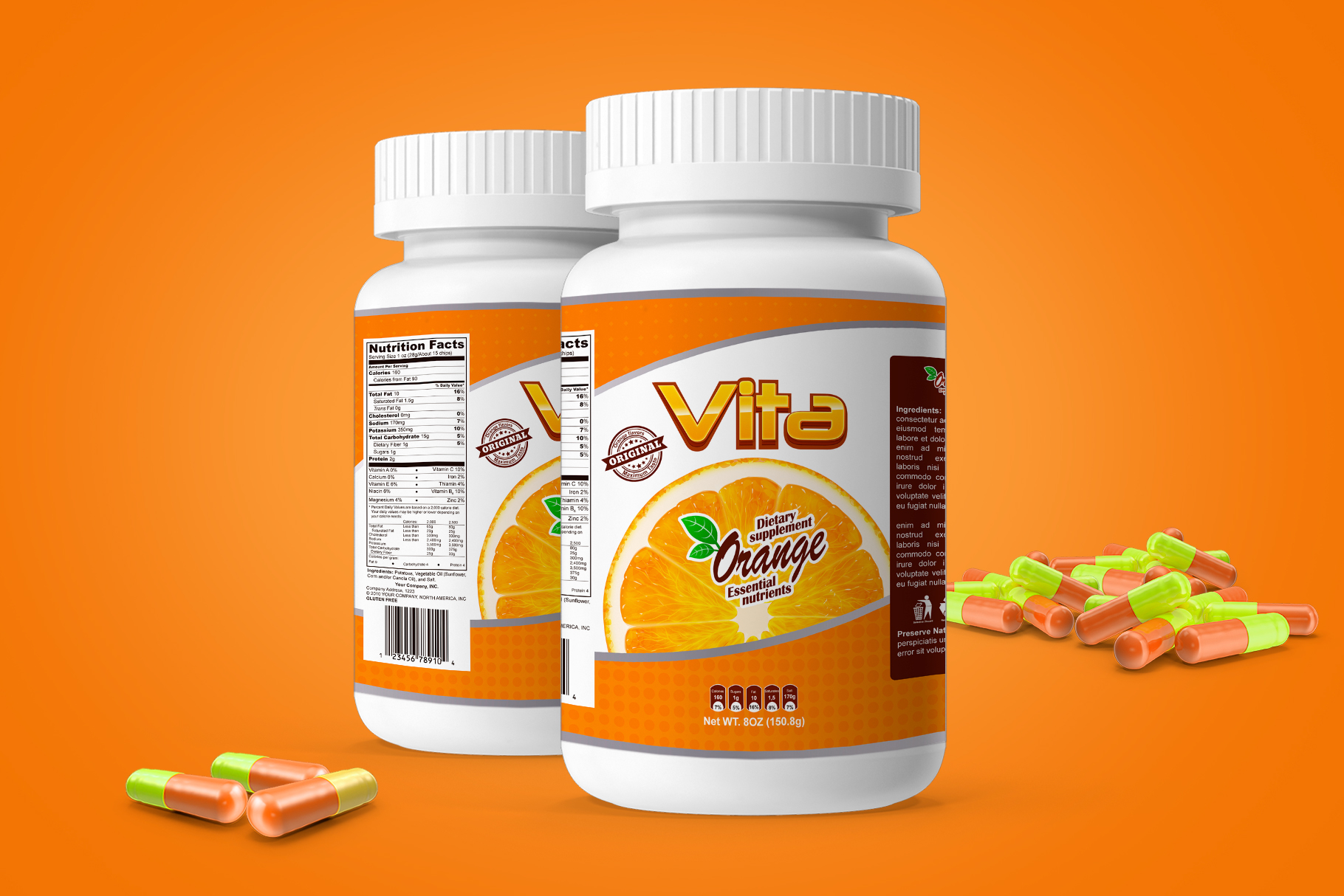 Pills Bottle Vitamin example image 1