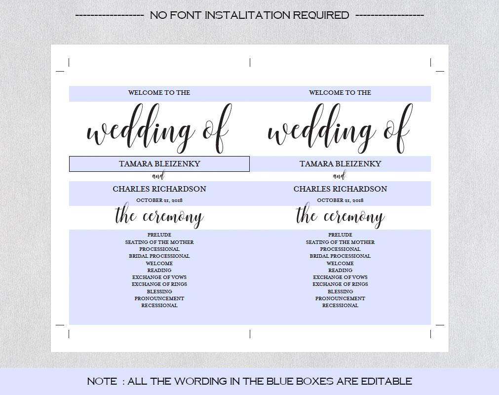 Wedding program fan example image 6