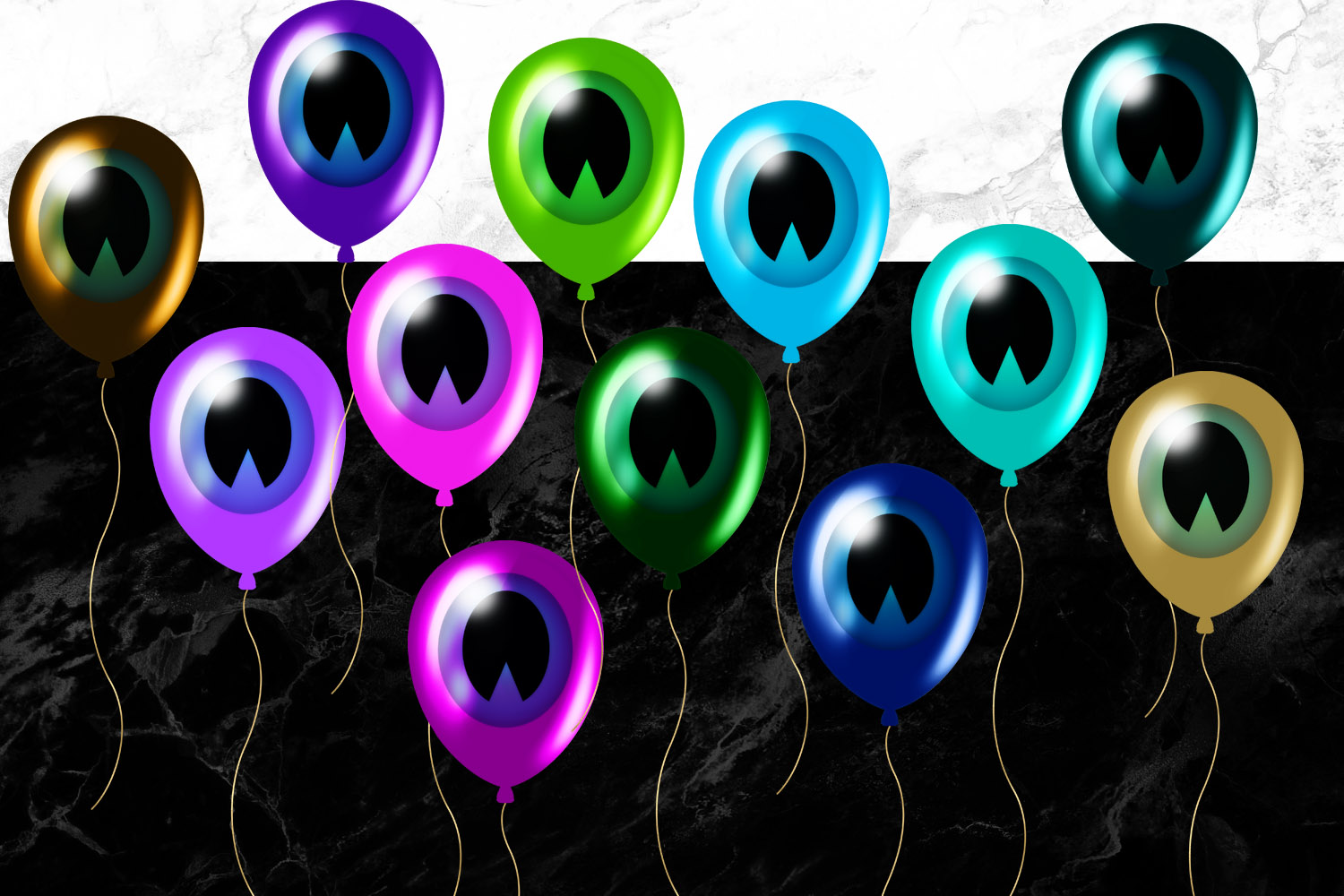 Peaocock Balloons Clipart