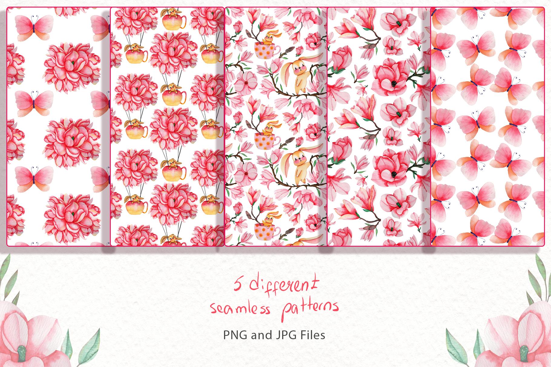 Magnolia Dream - Watercolor Illustrations example image 4