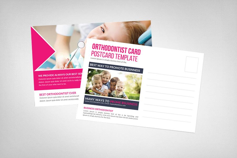 Orthodontist Postcard Template example image 2