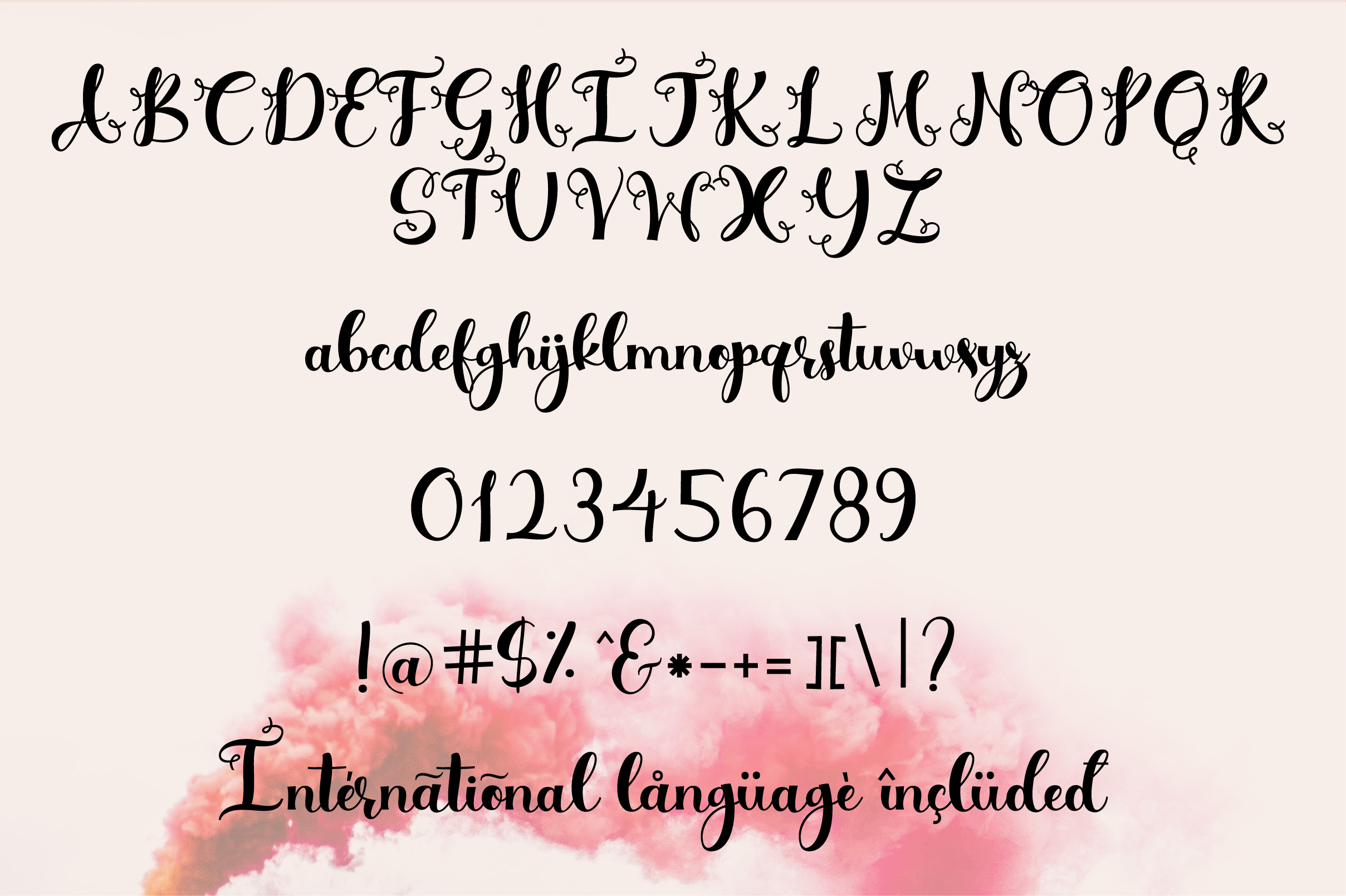 Simply Styled, a flourished ornamental script font example image 6