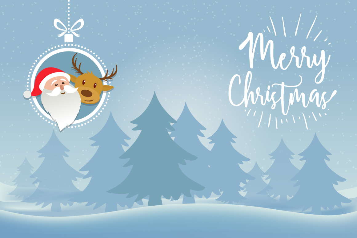 Christmas characters greeting card example image 1