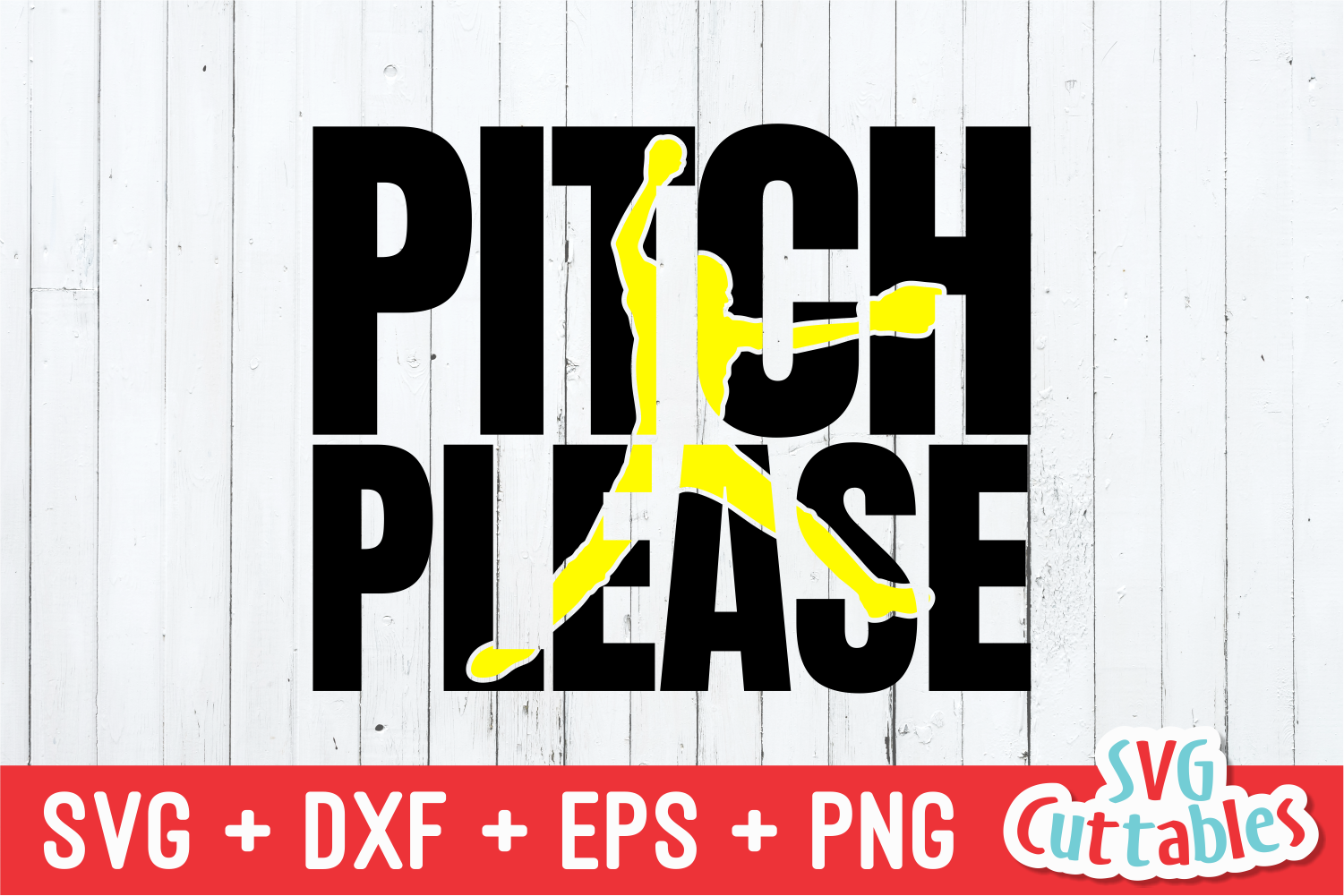 Pitch Please | Softball | SVG Cut File example image 2