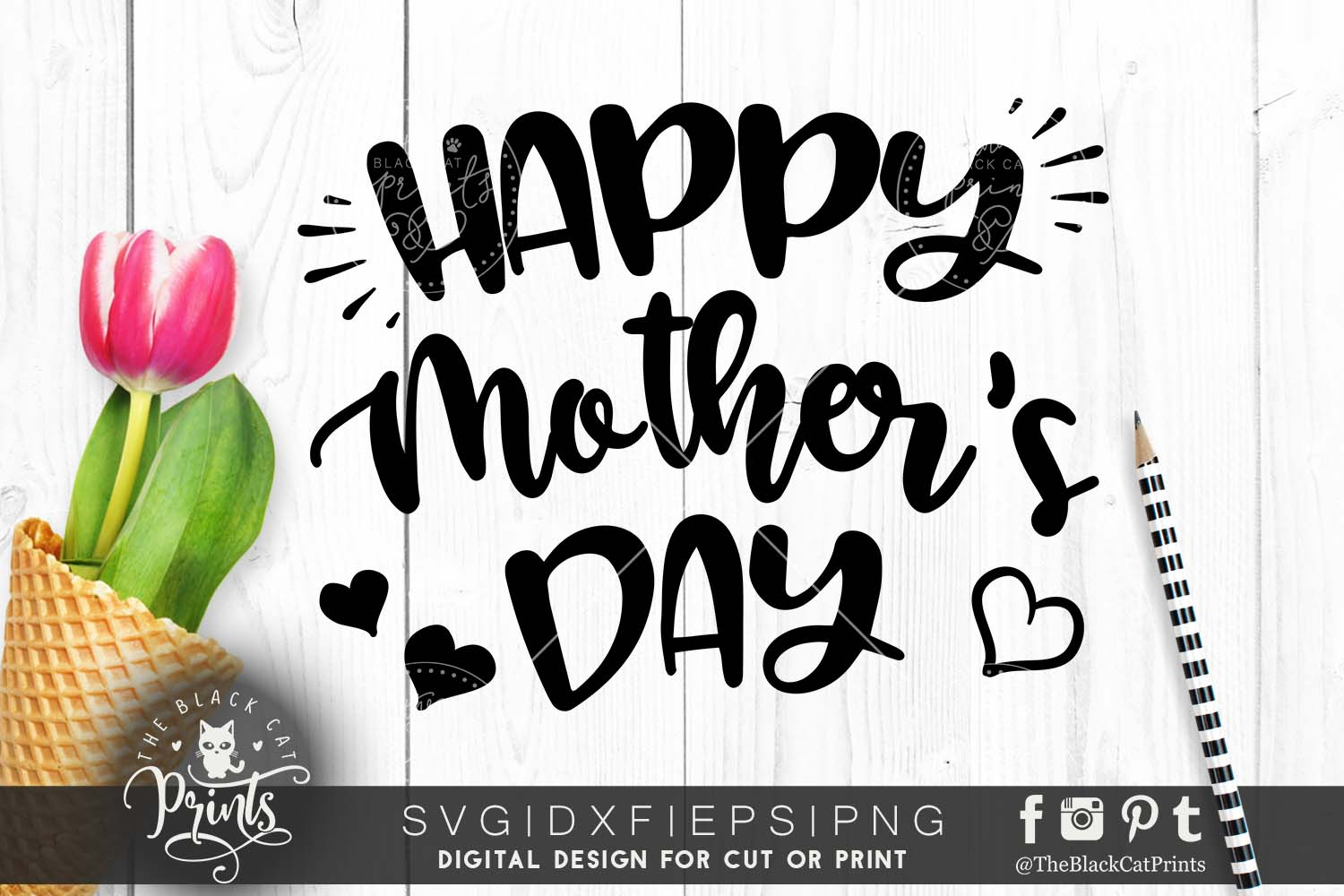 Happy mother's day SVG PNG EPS DXF, Mother svg cutting file example image 1