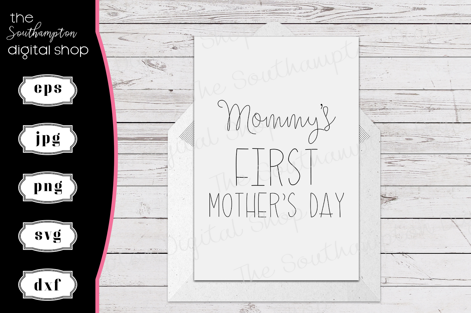 Mommy's First Mother's Day Foil Quil Card Design example image 1