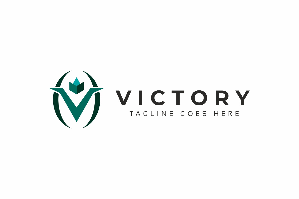 Victory V Letter Logo example image 2