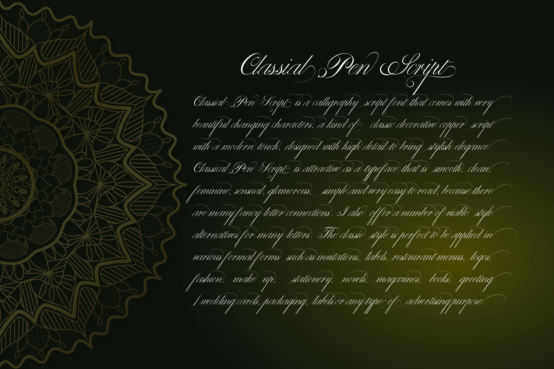 Classical Pen Script example image 2