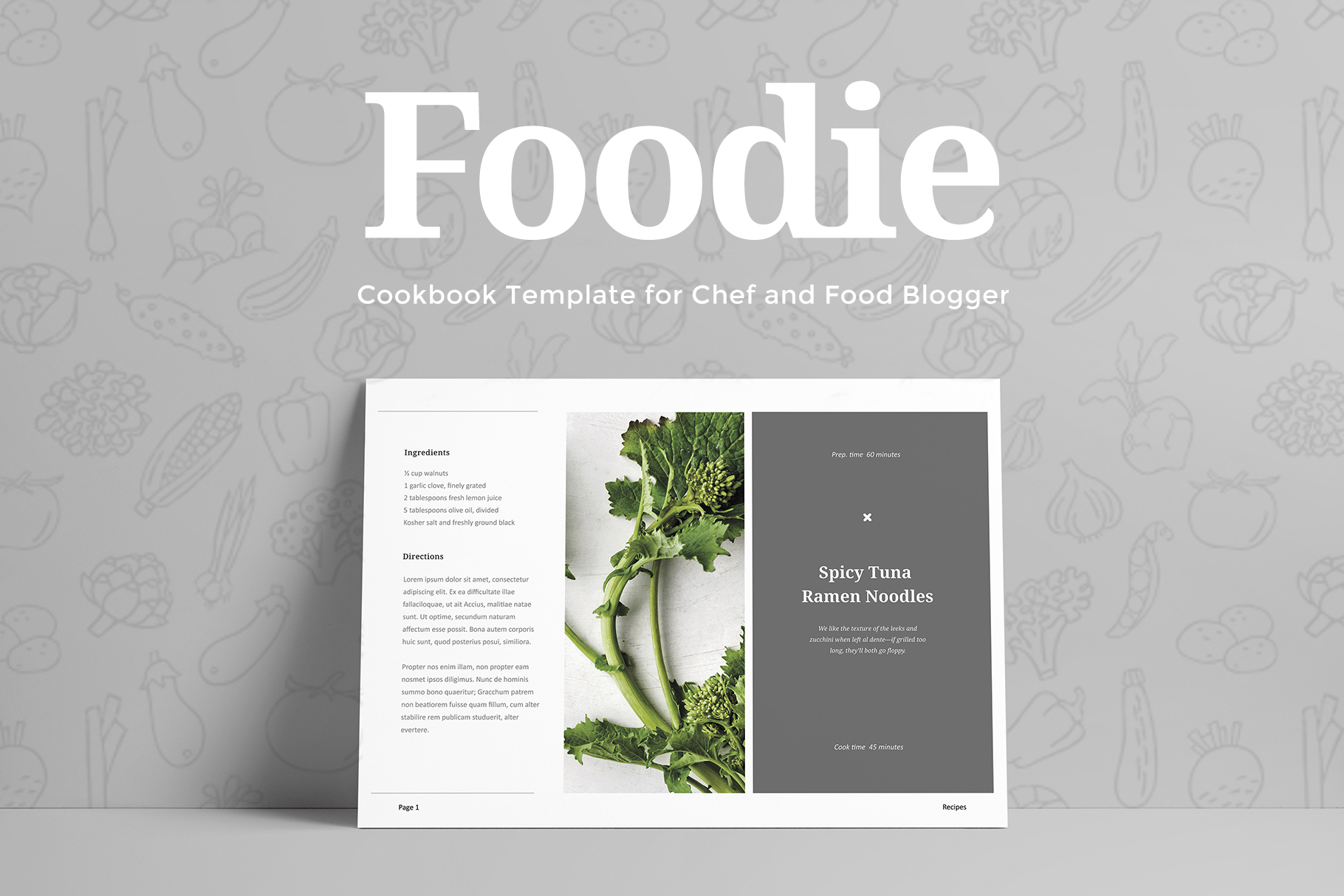 Foodie - Cookbook Template example image 2