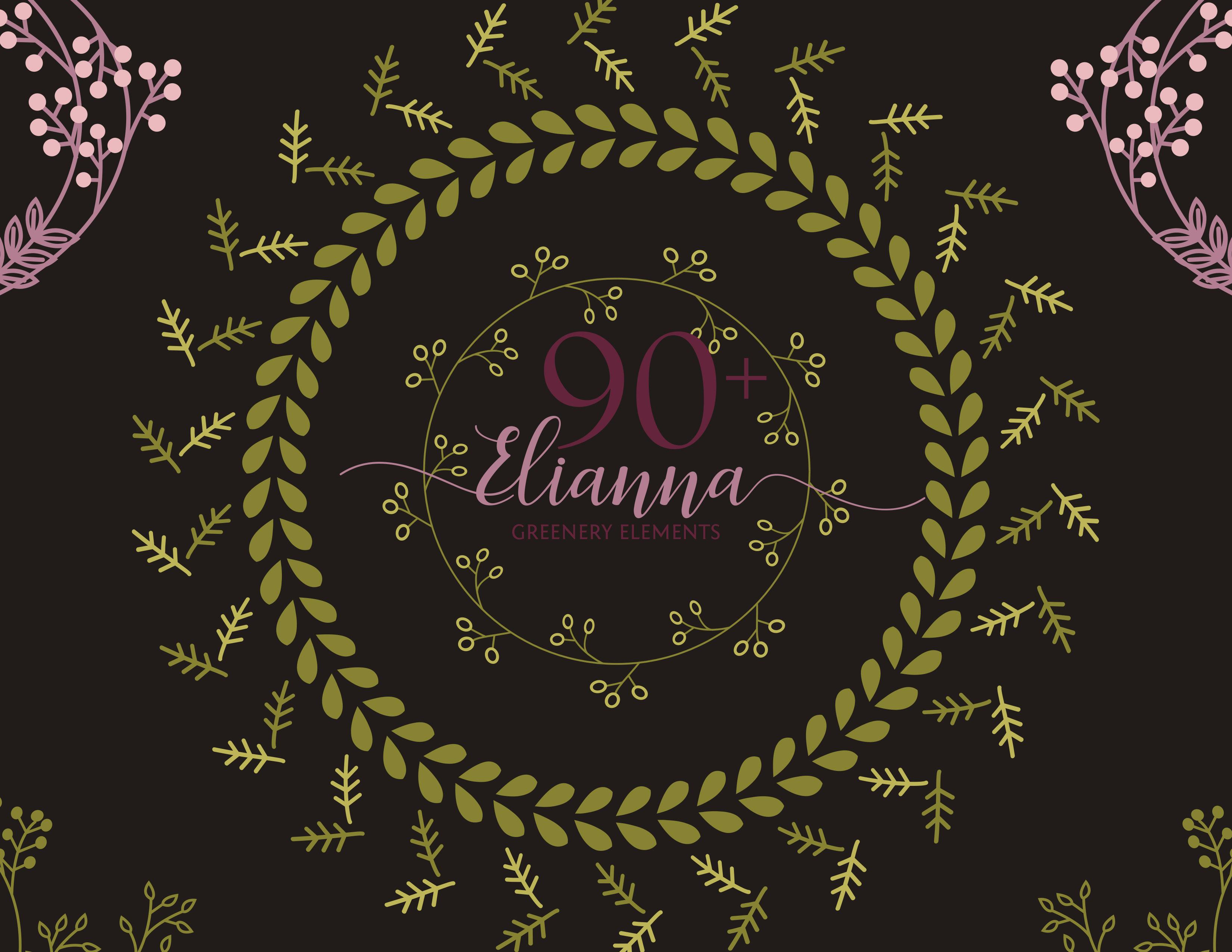 90+ Elianna Greenery Elements example image 1