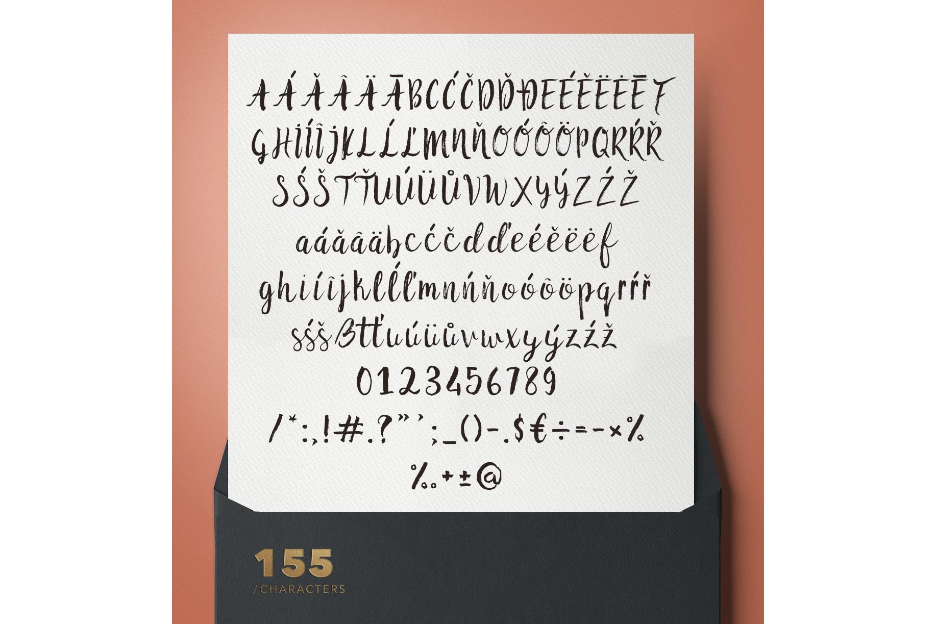 Malina Brush Font example image 2