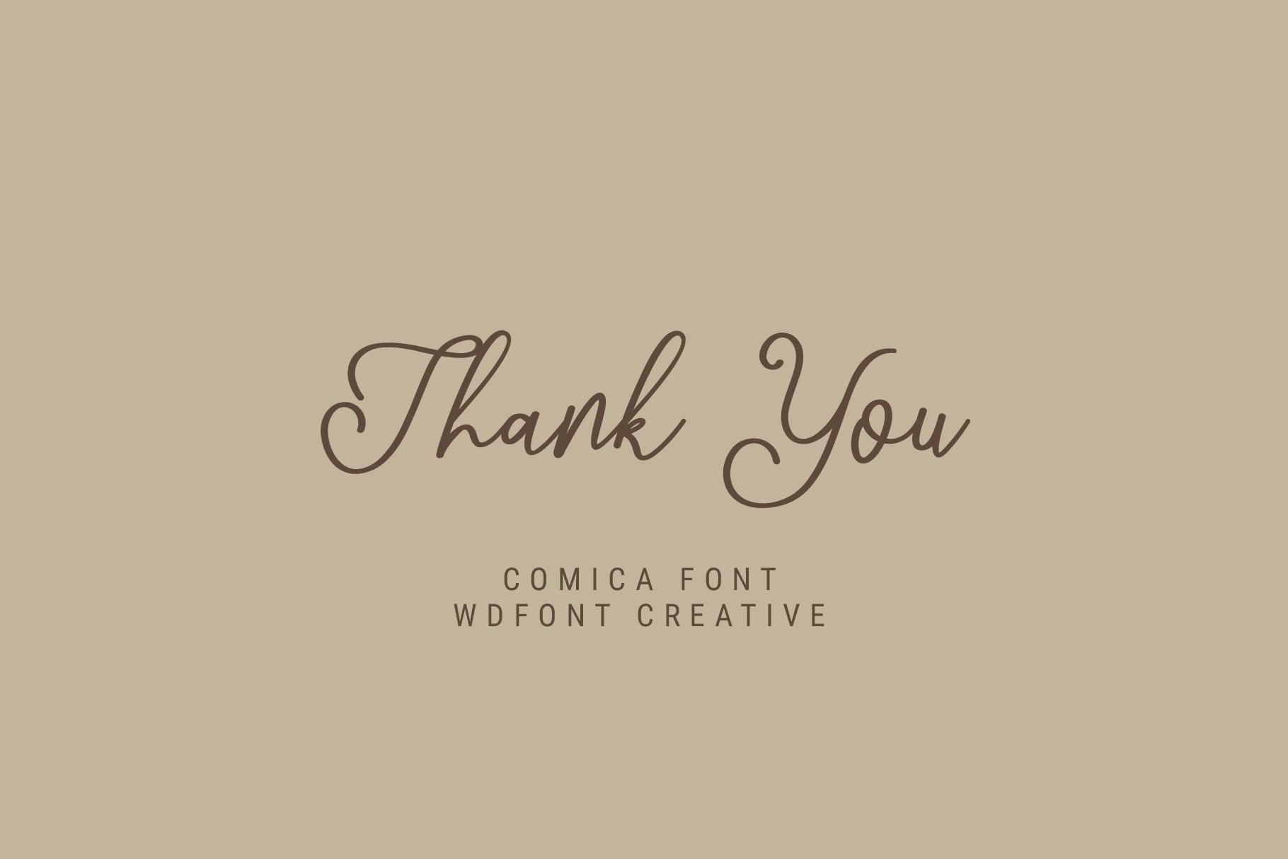 Comica Script Font example image 5