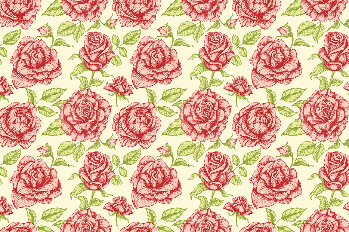 Floral seamless patterns example image 4