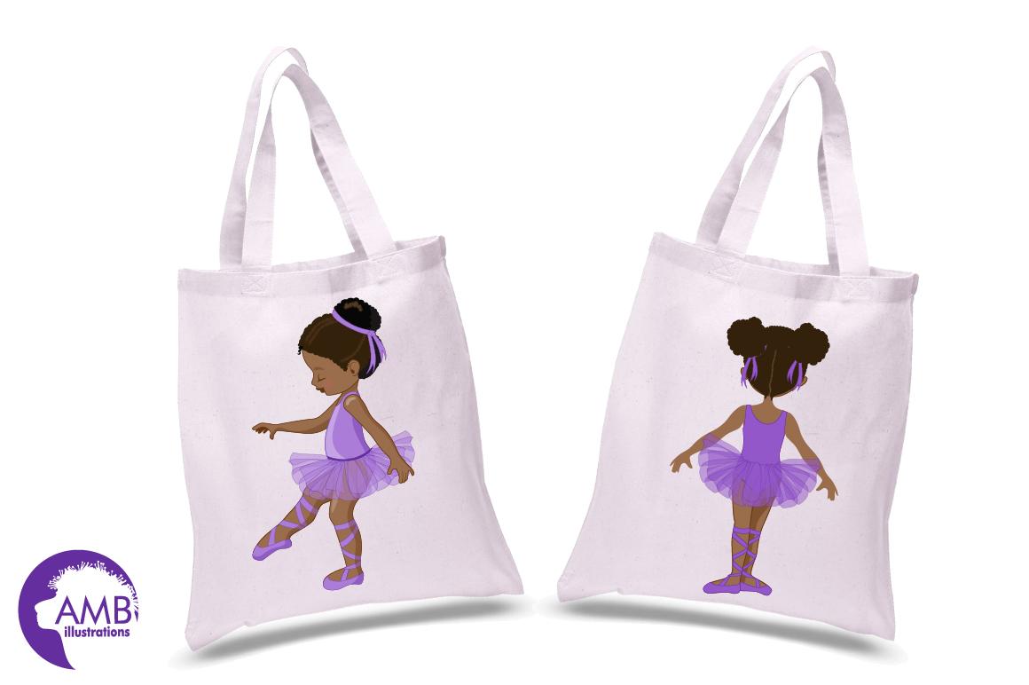 Ballerinas in purple clipart, graphics illustration AMB-1947 example image 2