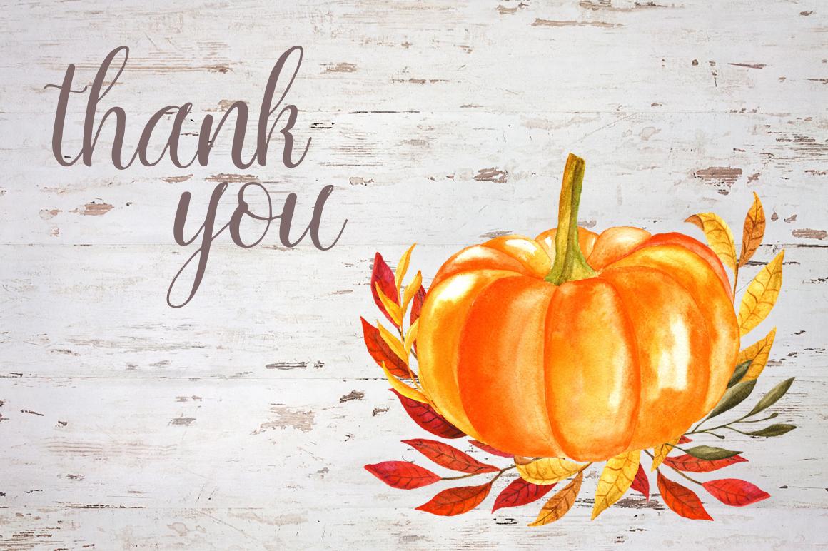 Watercolor pumpkin example image 12