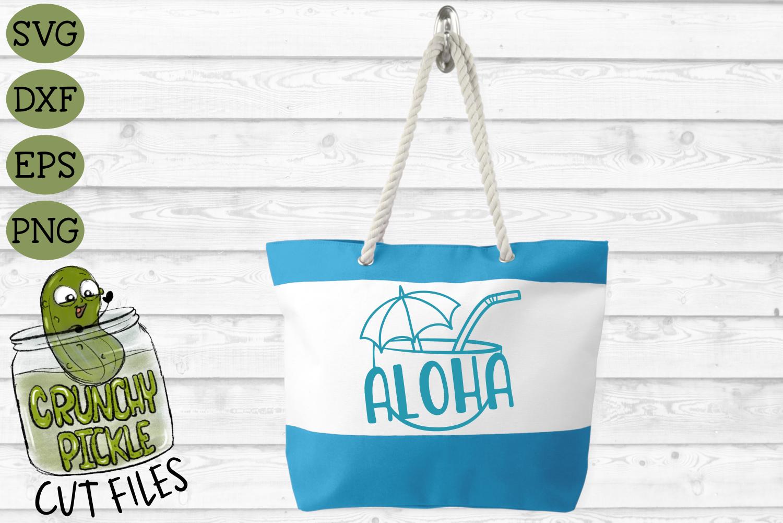 Aloha Coconut Drink Summer Beach SVG Cut File example image 4