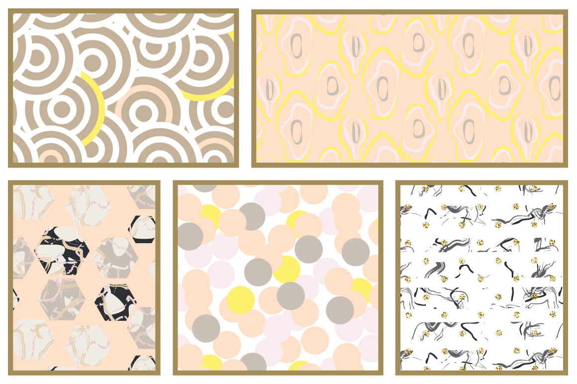 Pastel Geometric Patterns example image 5