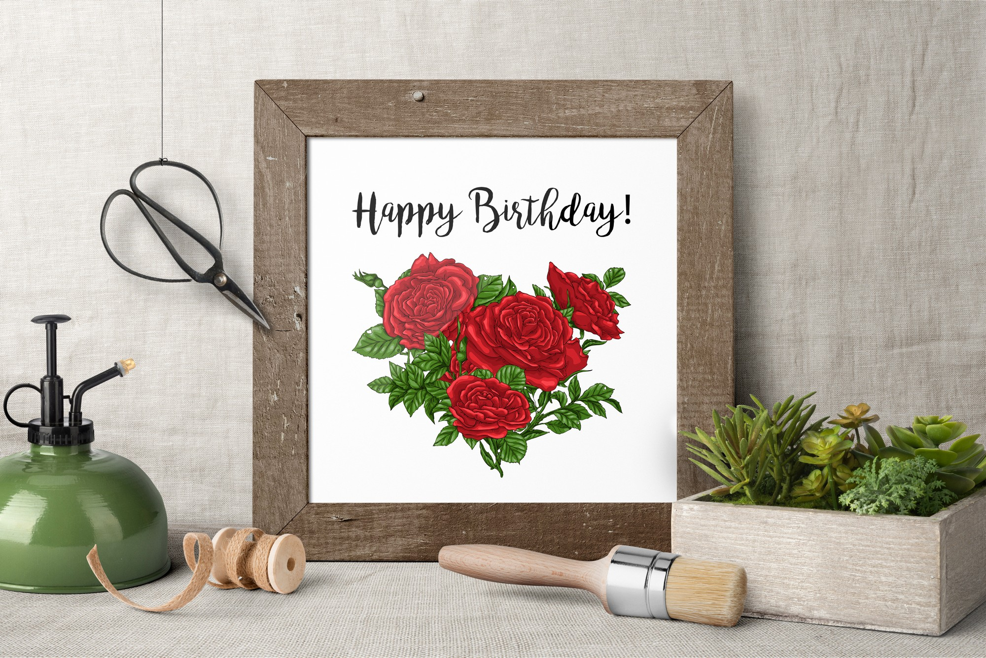 Roses – Vector Clip Art Set example image 13