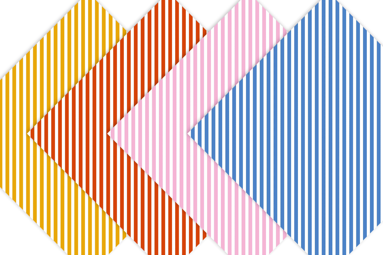 Diagonal Stripe Digital Scrapbook Paper  example image 4