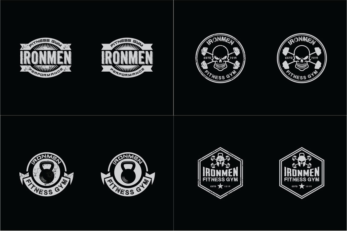 83 fitness gym bundle Logos Labels & Badges example image 11