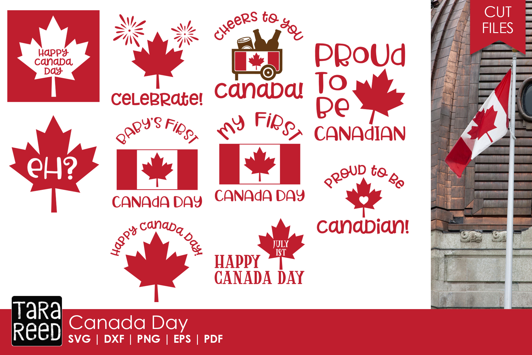 Canada Day - Canadian SVG and Cut Files for Crafters example image 1