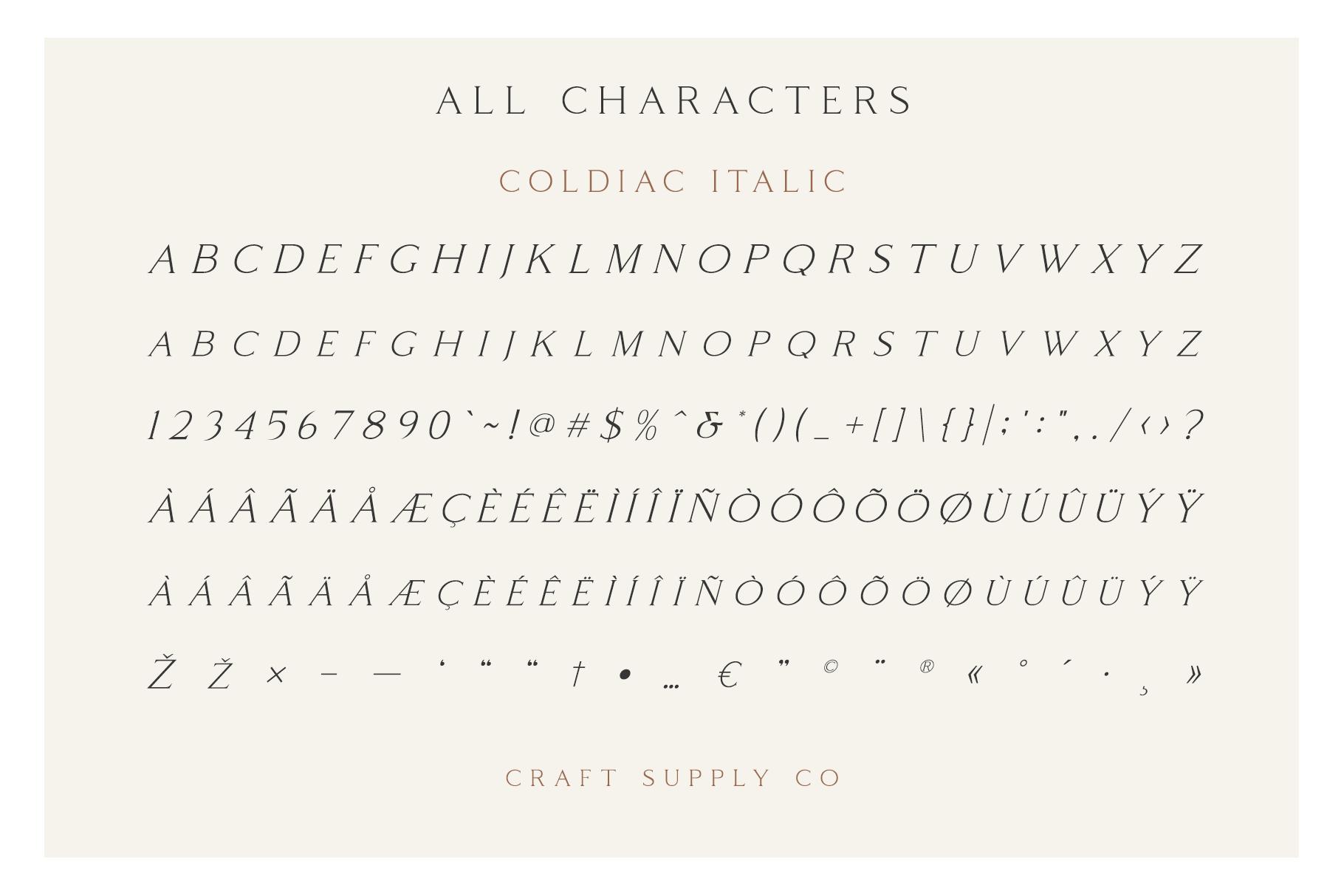 Coldiac - Luxury Serif Font example image 8