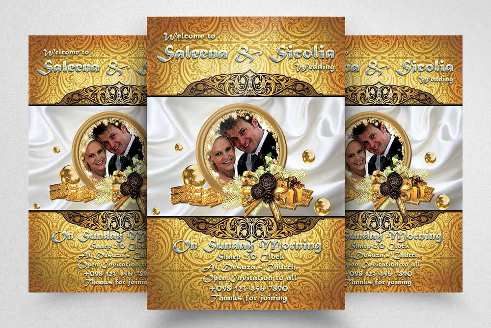 6 Wedding Invitaion Flyer Template example image 2