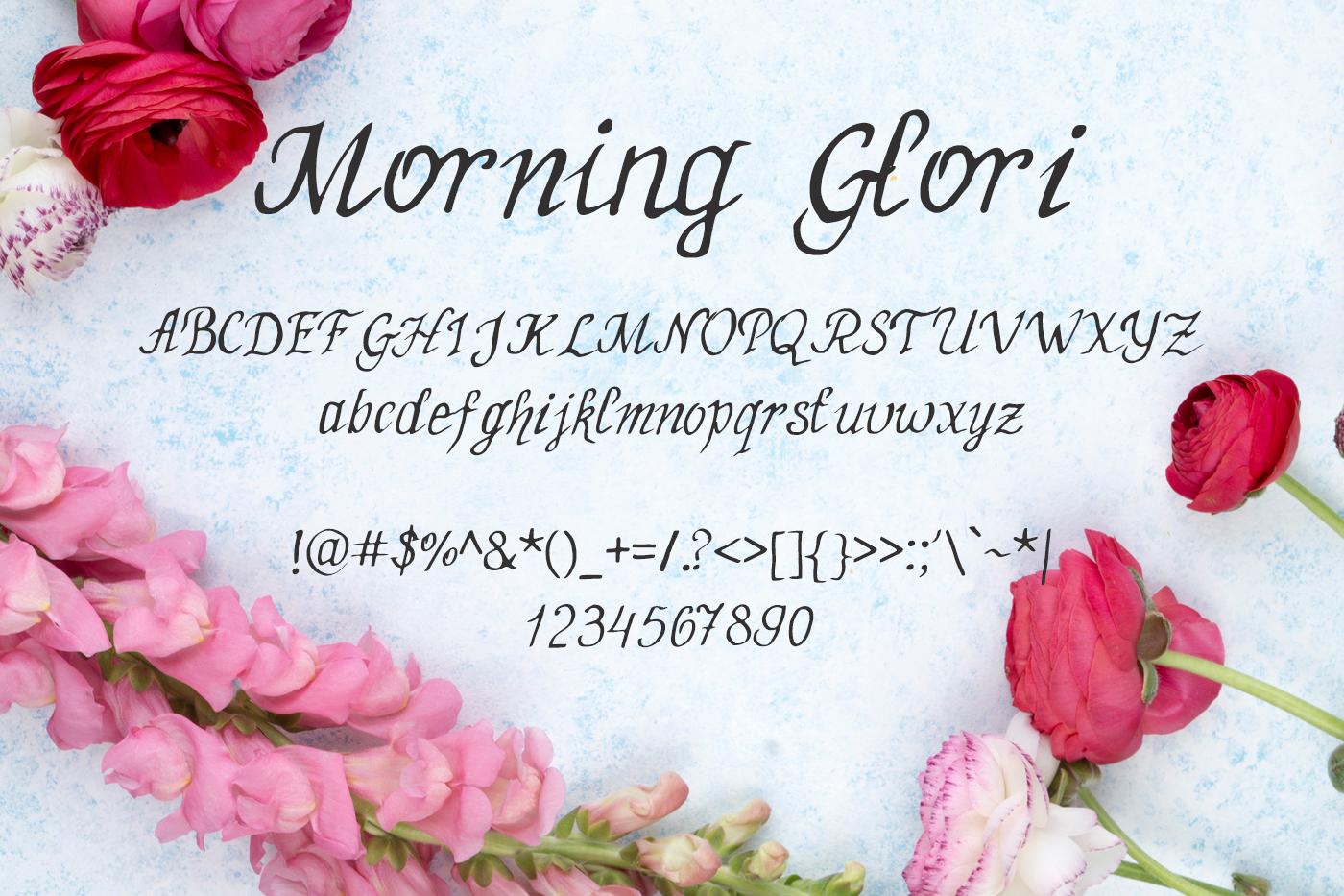 MorningGlori Font example image 2