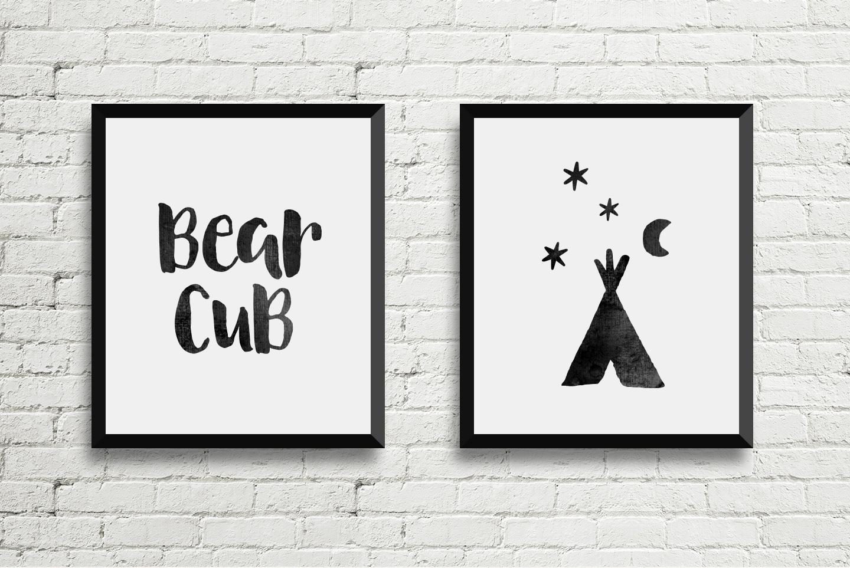 August Boy - Modern, bold, brush font + dingbat clipart example image 5