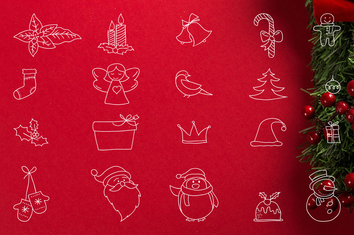 Carmelflakes Christmas Font & Doodles example image 2