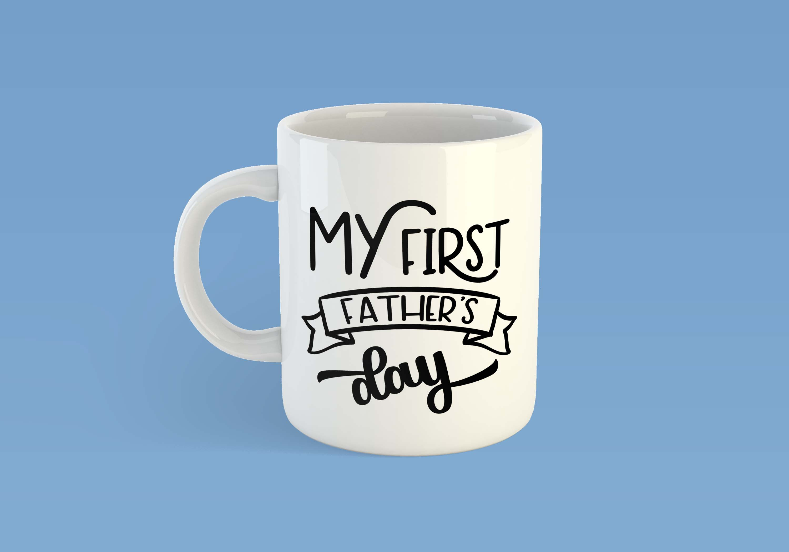 My first father's day SVG PNG EPS DXF, Father svg, Daddy svg file example image 2