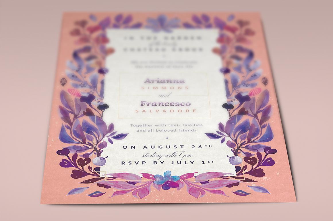 Ultra-Violet Lovely Story Invite I example image 3