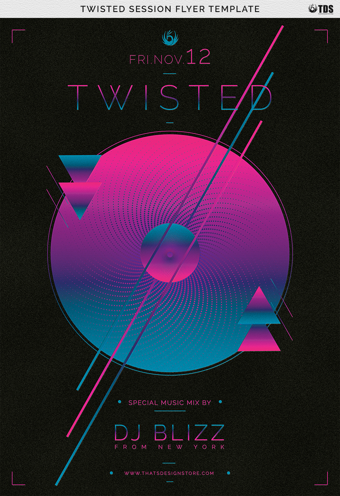 Twisted Session Flyer Template example image 10