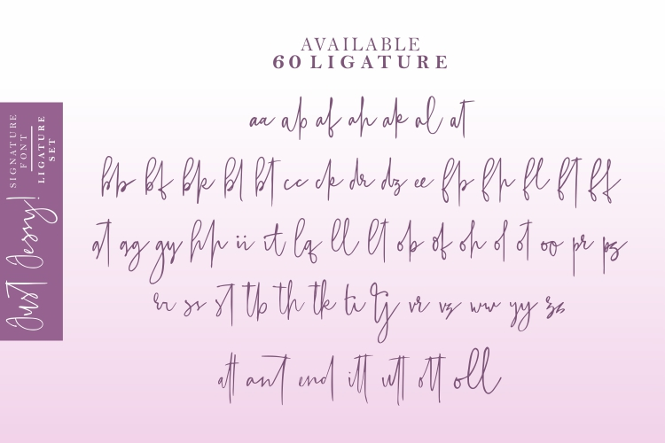 Just Jessy Signature Font example image 6
