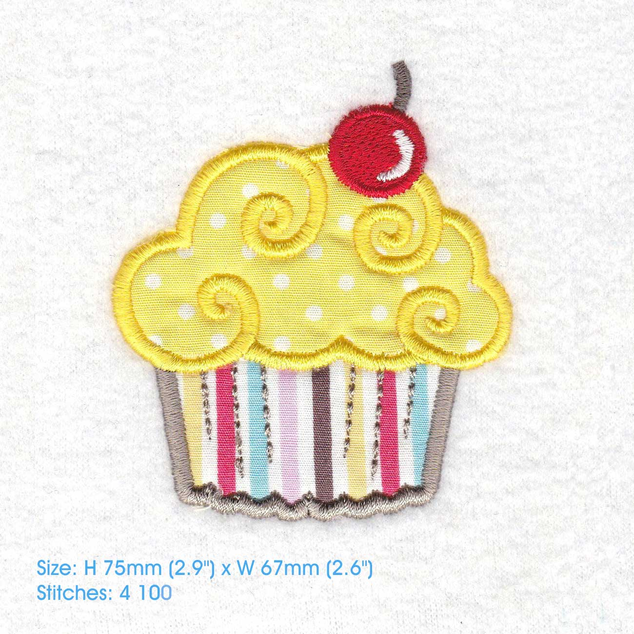 Cherry Cupcake Applique Embroidery Desi Design Bundles