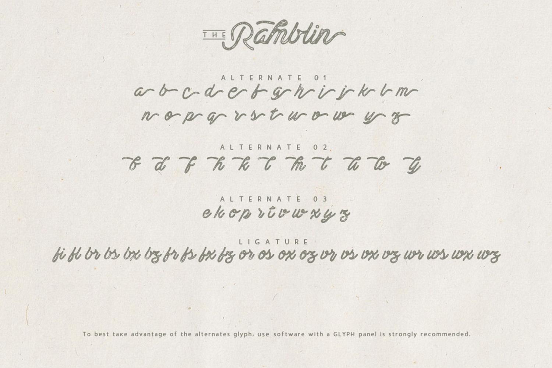 Ramblin Font Duo (15% OFF) example image 4
