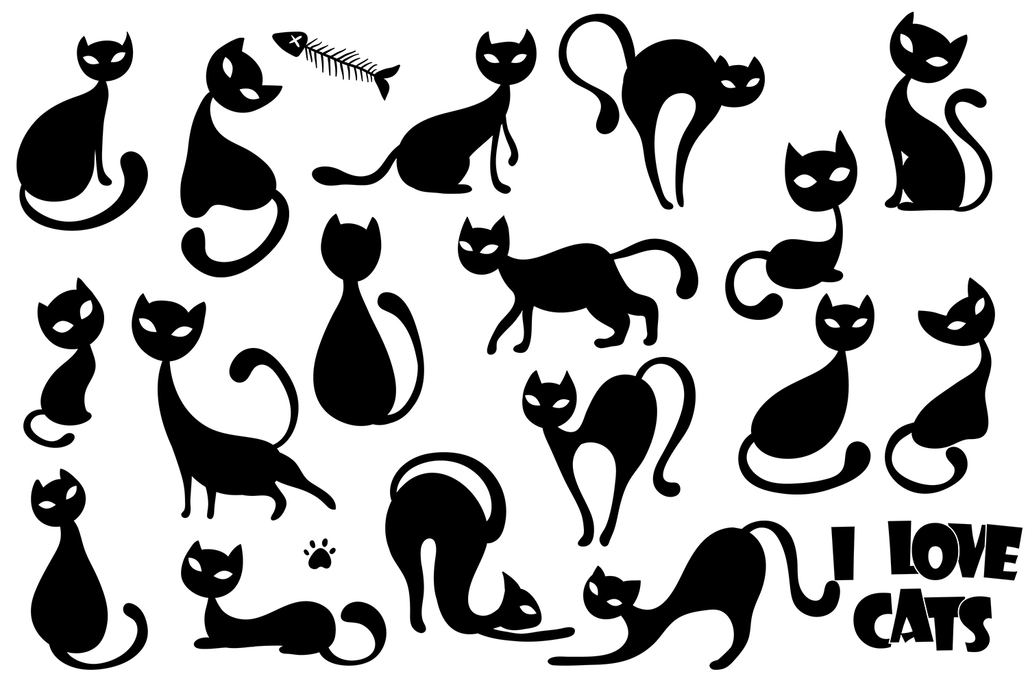 Cat Silhouettes example image 2