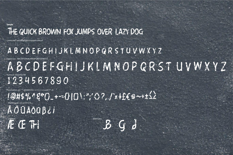 Paper Clip | Decorative Fun Font example image 6