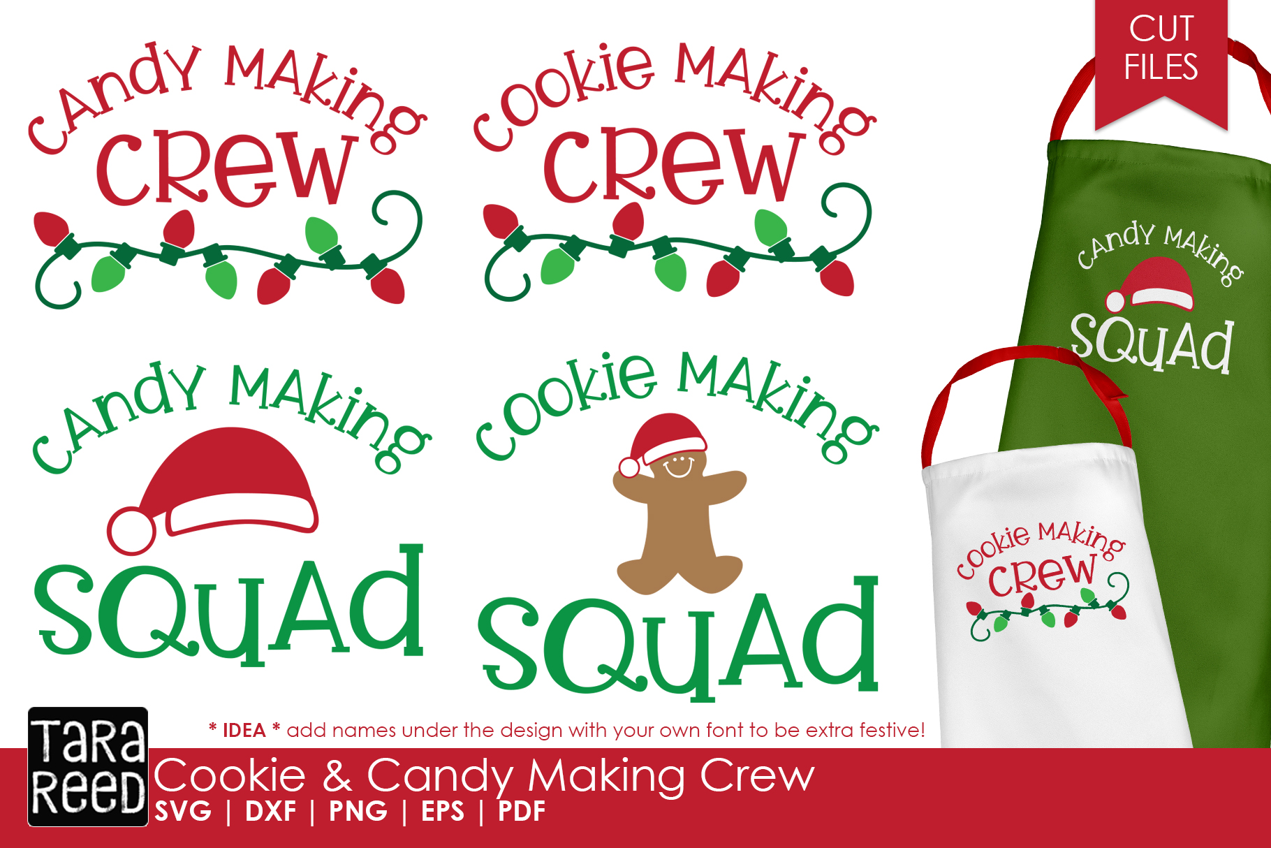 Christmas Cookie and Candy Making Crew - SVG & Cut Files example image 1